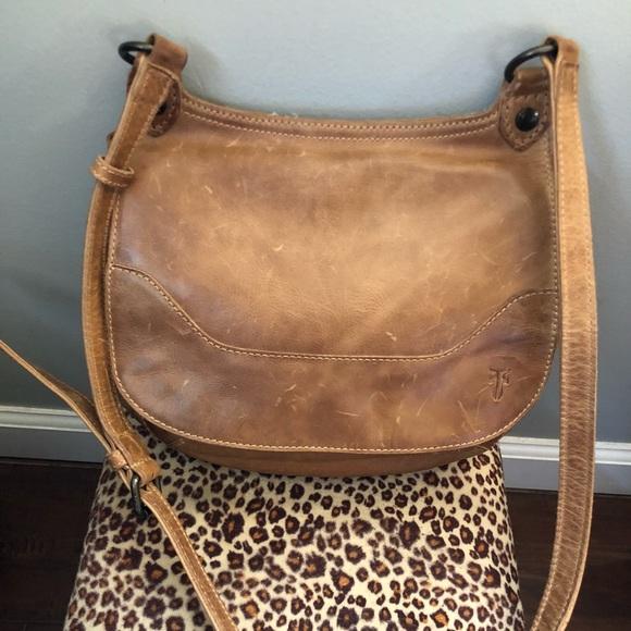 8b7064181 Frye Bags | Melissa Saddle Bag In Beige | Poshmark